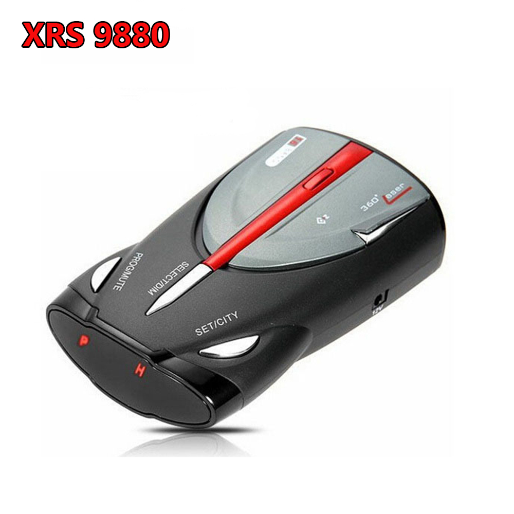 Upgraded 360 Degree Car 16 Band GPS Laser Detection Function Voice Alert Radar Detector Cobra XRS9880 Laser Anti Radar Detectors