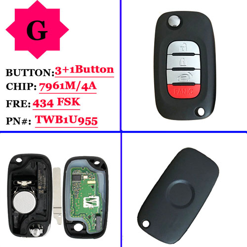New arrival genuine 3+1 button remote key 433mhz for Benz