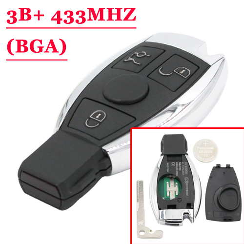 New BGA BE Remote Key Card 433MHZ (Big Button) Excellent Quality  For Benz