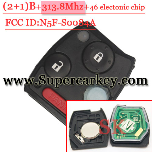 2+1 Button Remote Cotrol 313.8MHZ With 46 chip For Polit (FCC ID:N5F-SOO84A)