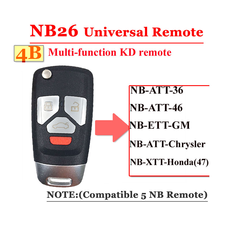 NB26 4 Button Remote For KD900 Machine(Universal Type)