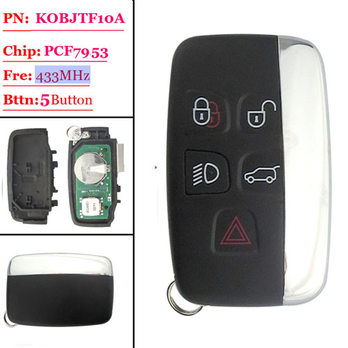 4+1 Button Remote Key with 433MHZ FOR Land Rover Discovery(MIC)