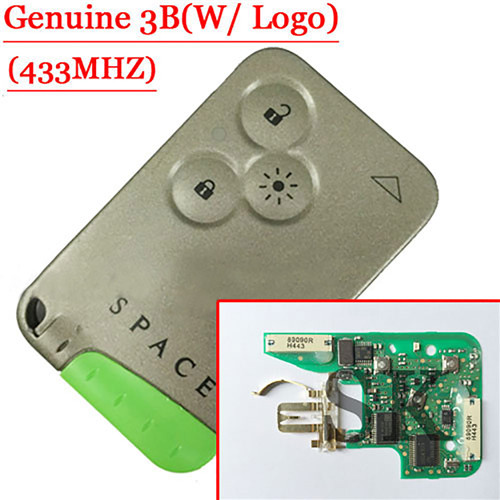 Genuine 3 Button Smart Key   Espace New TypeI(PCB is OEM) For Renault