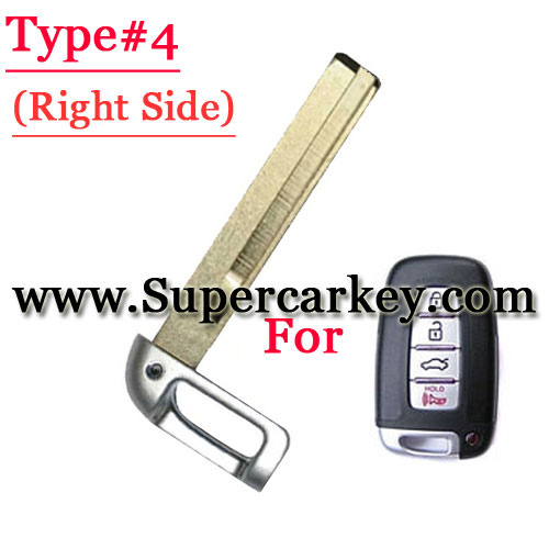Emergency Key Right Groove Blade For Hyundai Old Type
